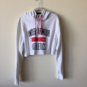 Under Armor White Super Soft Cropped Hoodie